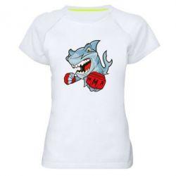 Женская спортивная футболка Shark MMA - FatLine