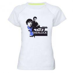 Женская спортивная футболка Sherlock (Шерлок Холмс)