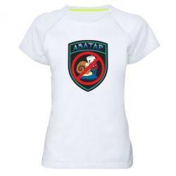Женская спортивная футболка Шеврон Анти Аватар - FatLine