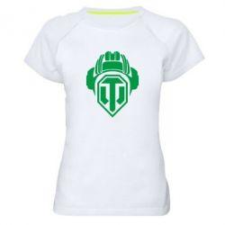 Женская спортивная футболка Шлем WOT