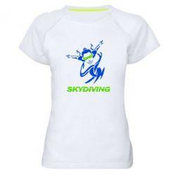 Женская спортивная футболка Skidiving - FatLine