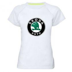 Женская спортивная футболка Skoda Auto - FatLine