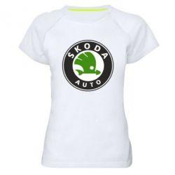 Женская спортивная футболка Skoda Auto