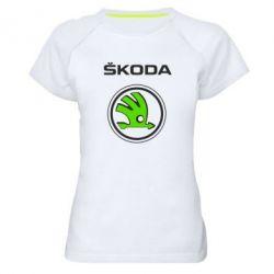 Женская спортивная футболка Skoda Bird - FatLine