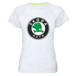 Женская спортивная футболка Skoda Small - FatLine