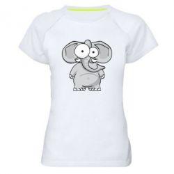 Жіноча спортивна футболка Слон окатий