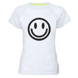 Женская спортивная футболка Смайлик - FatLine