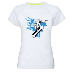 Женская спортивная футболка Сноуборд - FatLine