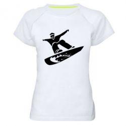 Женская спортивная футболка Snow Board - FatLine