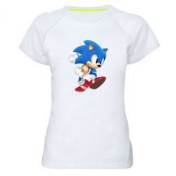 Женская спортивная футболка Sonic 3d - FatLine