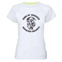 Женская спортивная футболка Sons of Anarchy - FatLine