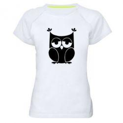 Женская спортивная футболка Сова - FatLine