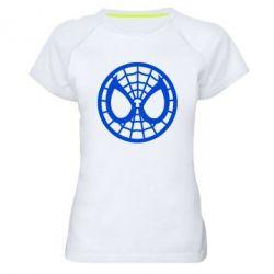 Женская спортивная футболка Спайдермен лого - FatLine