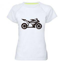 Женская спортивная футболка Спортивный байк - FatLine