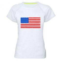 Женская спортивная футболка США - FatLine