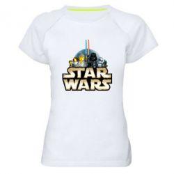 Женская спортивная футболка Star Wars Lego - FatLine