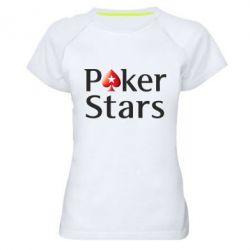 Женская спортивная футболка Stars of Poker - FatLine