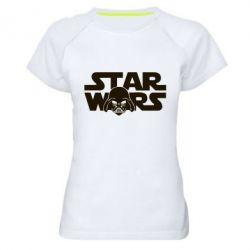 Женская спортивная футболка StarWars Logo - FatLine