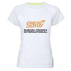 Женская спортивная футболка STI - FatLine