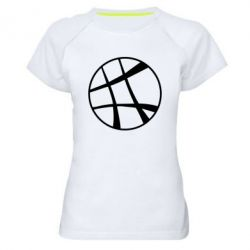 Женская спортивная футболка Strange Logo