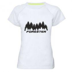 Женская спортивная футболка Subaru Forester