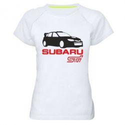 Женская спортивная футболка Subaru STI - FatLine