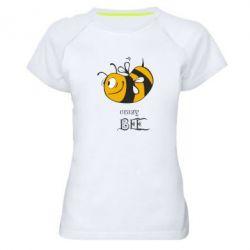Женская спортивная футболка Сумасшедшая пчелка - FatLine