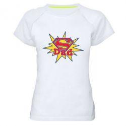 Женская спортивная футболка Super Dad - FatLine