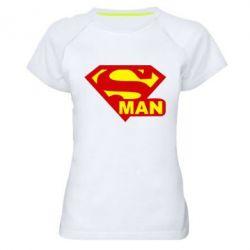 Женская спортивная футболка Super Man - FatLine