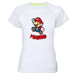 Женская спортивная футболка Супер Марио - FatLine