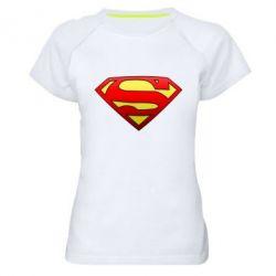 Женская спортивная футболка Superman Logo - FatLine