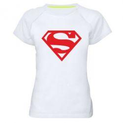 Женская спортивная футболка Superman одноцветный - FatLine