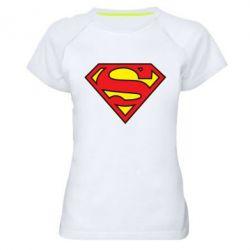 Женская спортивная футболка Superman Symbol - FatLine