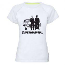 Женская спортивная футболка Supernatural Братья Винчестеры - FatLine