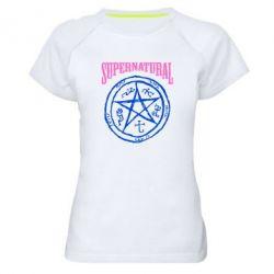 Женская спортивная футболка Supernatural круг - FatLine