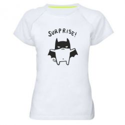 Женская спортивная футболка Surprise! - FatLine