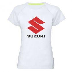 Женская спортивная футболка Suzuki - FatLine