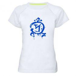 Женская спортивная футболка Сверхъестественное логотип - FatLine