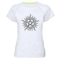 Женская спортивная футболка Сверхъестественное Star - FatLine