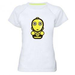 Женская спортивная футболка Sweet C-3PO - FatLine