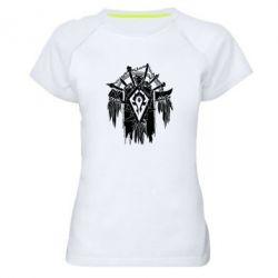 Женская спортивная футболка Symbol horde - FatLine