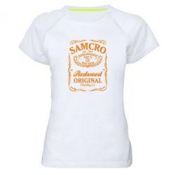 Женская спортивная футболка Сыны Анархии Samcro