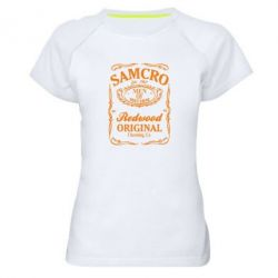 Жіноча спортивна футболка Сини Анархії Samcro - FatLine