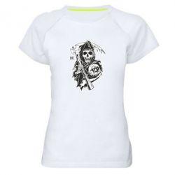 Женская спортивная футболка Сыны Анархии - FatLine