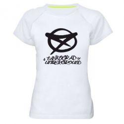 Женская спортивная футболка Tankograd Underground Logo - FatLine