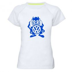 Женская спортивная футболка Тасманский дьявол Volkswagen