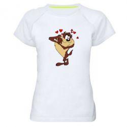 Женская спортивная футболка Taz in love - FatLine