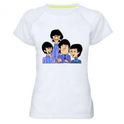 Женская спортивная футболка The Beatles - FatLine