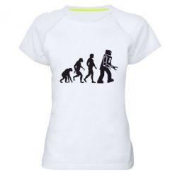 Женская спортивная футболка The Bing Bang theory Evolution - FatLine