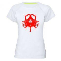 Женская спортивная футболка The Chemodan Clan противогаз - FatLine